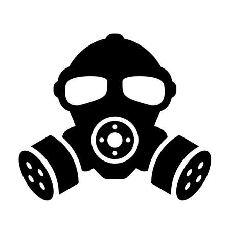 Old gas mask vector silhouette