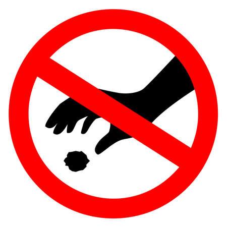 No littering vector sign