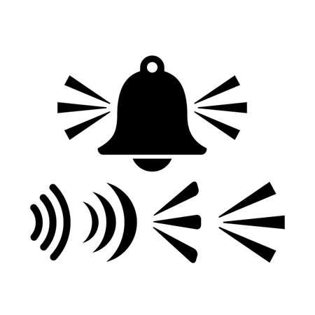 Alarm signal vector icon set