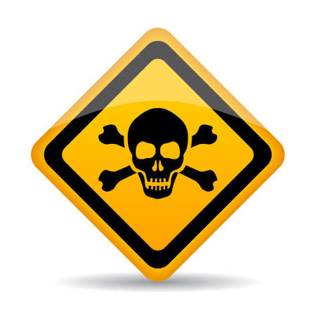Skull danger vector sign