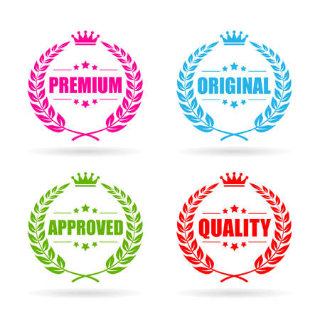 Premium quality laurel icon set Illustration