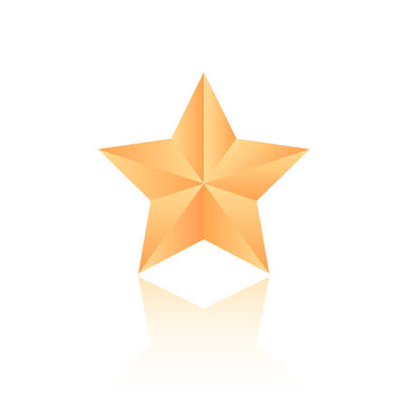 Vector gold star icon