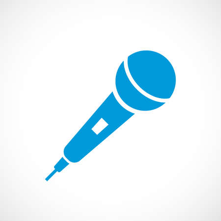 Hand microphone vector icon