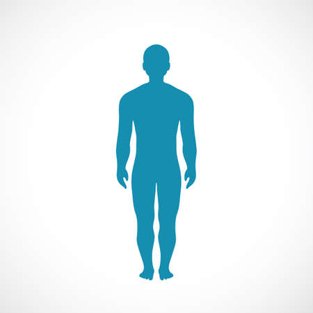 Human body silhouette vector icon