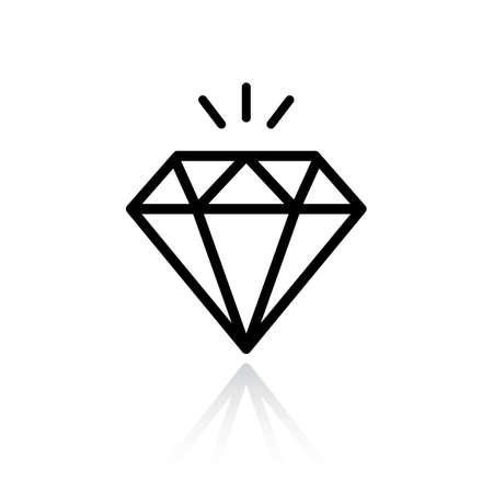 Diamond shine vector icon