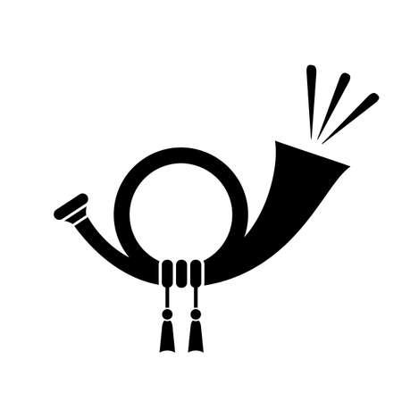 Icono de vector de trompeta Ilustración de vector