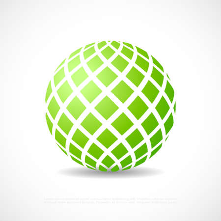 Abstract green orb icon