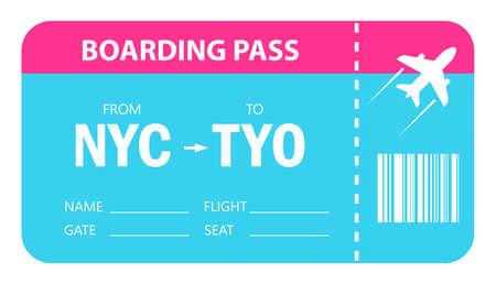 Boarding pass vector icon