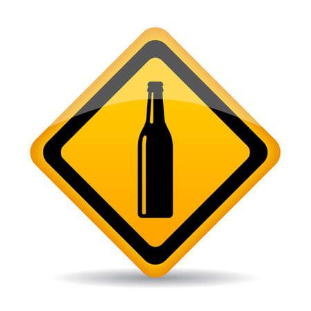 Beer bar vector sign