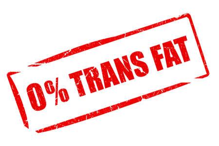 No trans fat rubber stamp Banco de Imagens - 104194670