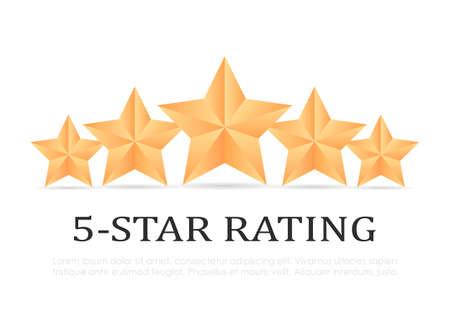 Vektorikone mit fünf goldenen Sternen