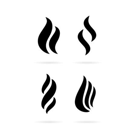 Fume smoke vector icon