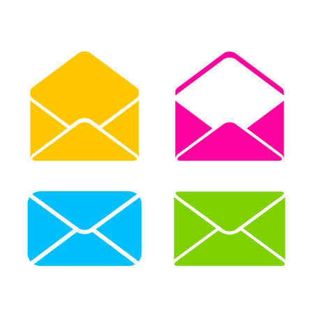 Colorful envelope vector icon Stok Fotoğraf - 104869955