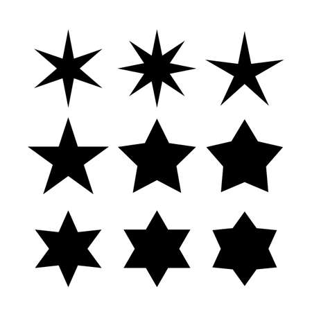 Vector star shapes collection Illusztráció