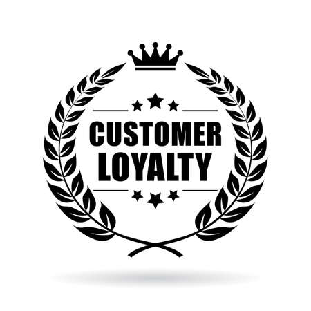 Klant loyaliteit vector pictogram