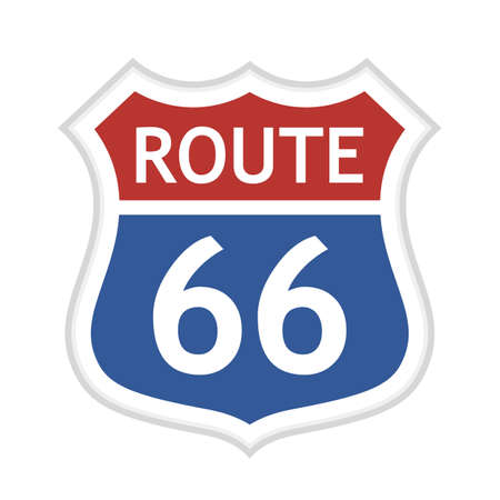 Route 66 vector road sign