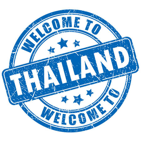 Welcome to Thailand vector stamp Illustration