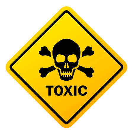 Toxic safety sign