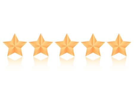 Five stars vector icon Vettoriali