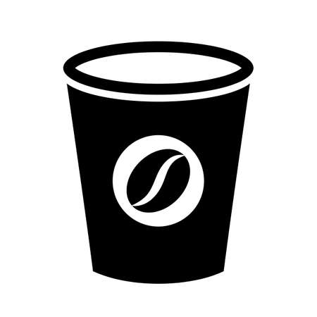 Coffee paper cup vector icon Иллюстрация