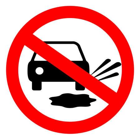 Do not splash pedestrians vector sign