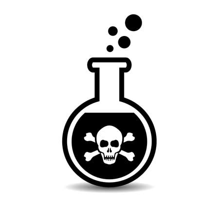Poison bottle vector icon