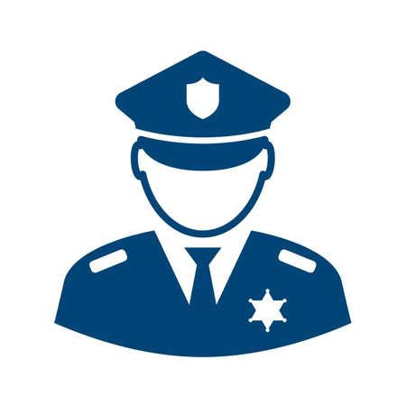 Icono de vector de avatar de policía Ilustración de vector