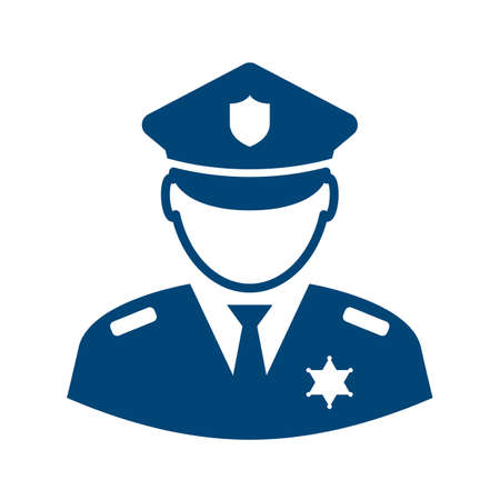 Policeman avatar vector icon