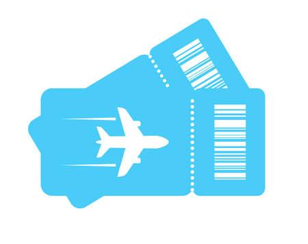 Couple plane tickets vector icon Иллюстрация