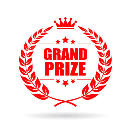 Grand prize laurel vector icon 일러스트