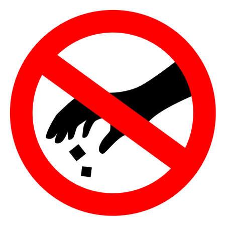 Please use dustbin vector sign