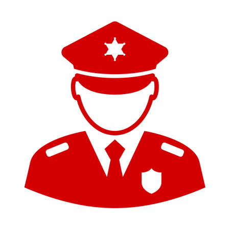 Icône de vecteur de policier