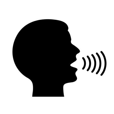 Voice command vector icon Ilustracja