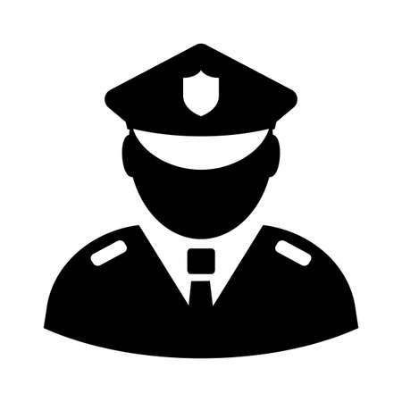 Icona di vettore del funzionario di polizia