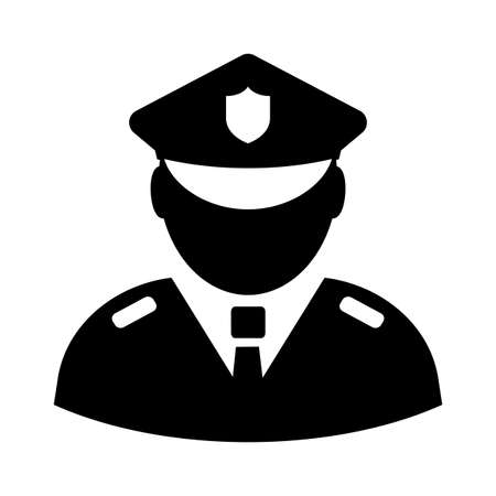 Polizeibeamte Vektorikone