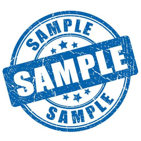 Timbro di gomma inchiostro campione
