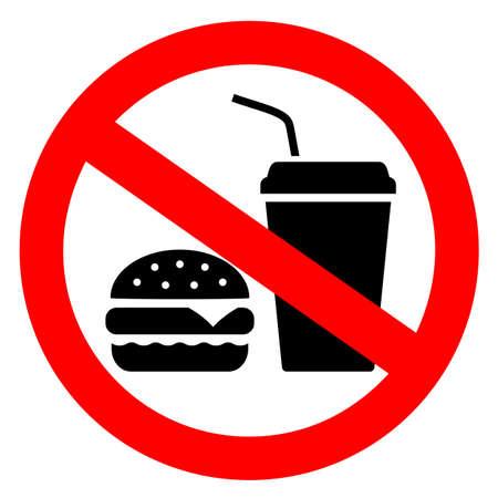Brak znaku wektora jedzenia
