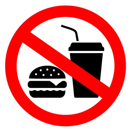 No eating vector sign Stock fotó - 106319375