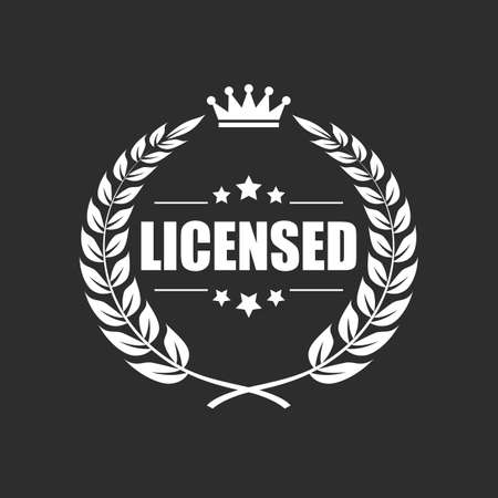 Licensed product vector icon Illustration