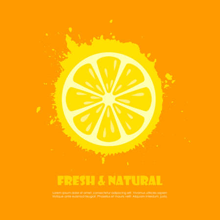 Fresh and natural citrus fruit vector poster