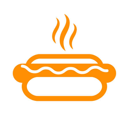 Hot fresh hotdog icon