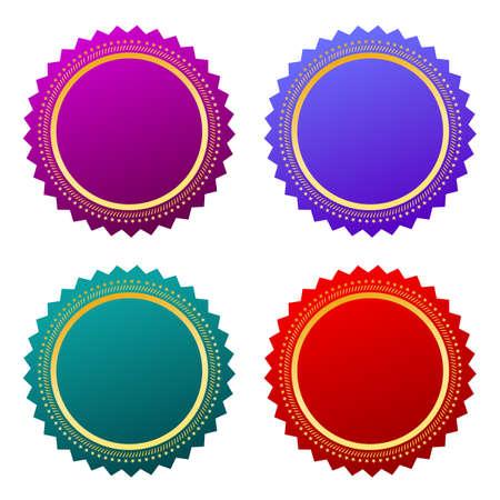 Star shaped vector labels set