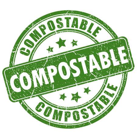 Kompostierbarer grüner Rundstempel
