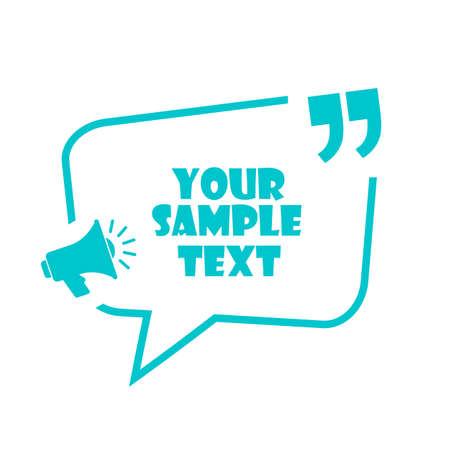 Announce text box vector template Ilustração Vetorial