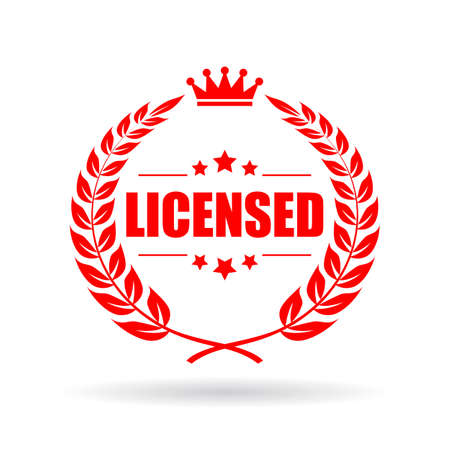Licensed vector emblem 写真素材 - 107759248