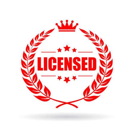 Licensed vector emblem