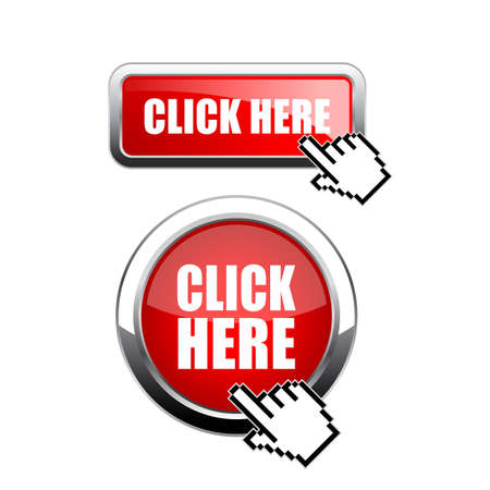 Red metal buttons click here Illustration