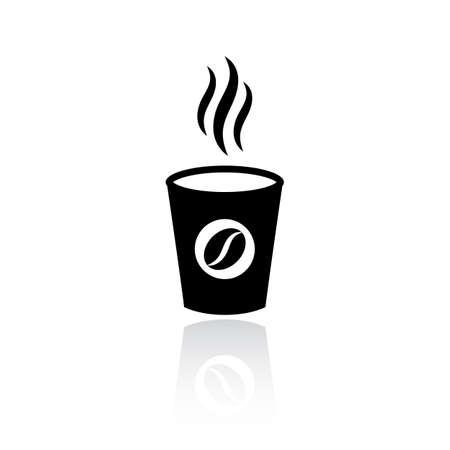 Icône de vecteur de tasse de café à emporter
