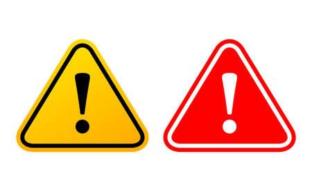 Danger exclamation triangular sign Illustration