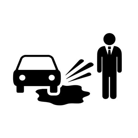 Motorist splashing pedestrians vector pictogram